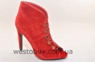 Женские летние ботинки на пуговках 1129-19