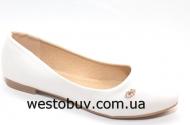 Белые женские балетки T7