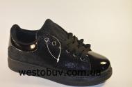 Кросовки черные женские  61-51
