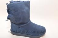 Зимние женские угги синего цвета R102