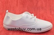 Белюсенькие мокасины на шнурках 645-Y