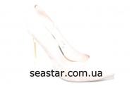 Белые туфли на шпильке LE-08b