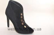 Женские летние ботинки на пуговках 1129-1