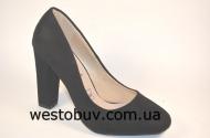 Жгуче черные туфли для женщин  Z-22a