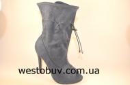 Туфли серо-синие женские SY15b