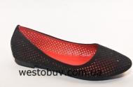 Балетки женские черная сетка 530-18