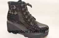 Ботинки  женские эко-лак L&L K60013